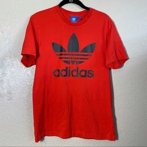 Red Adidas Black Logo Graphic T-shirt Md